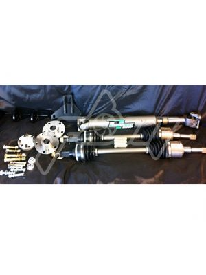 Full Blown S2000 8.8 Rear End Conversion Kit - Steel Driveshaft, 31 Spline
